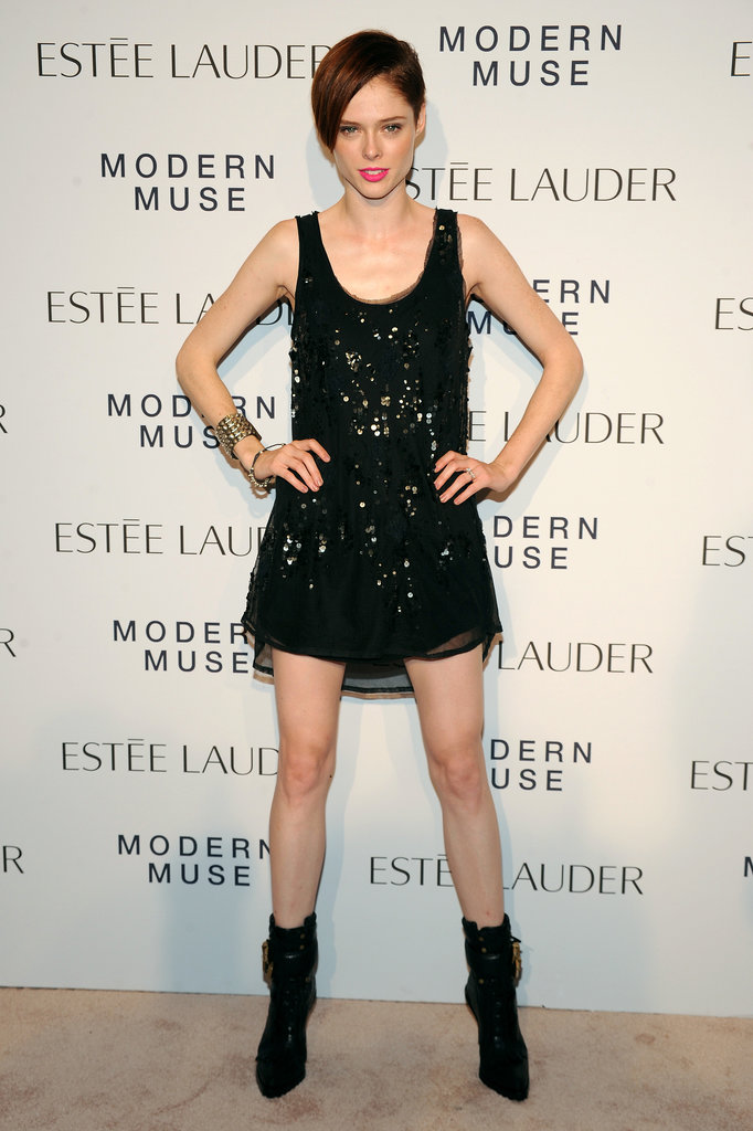 Coco Rocha hit the carpet for Estée Lauder in head-to-toe black.