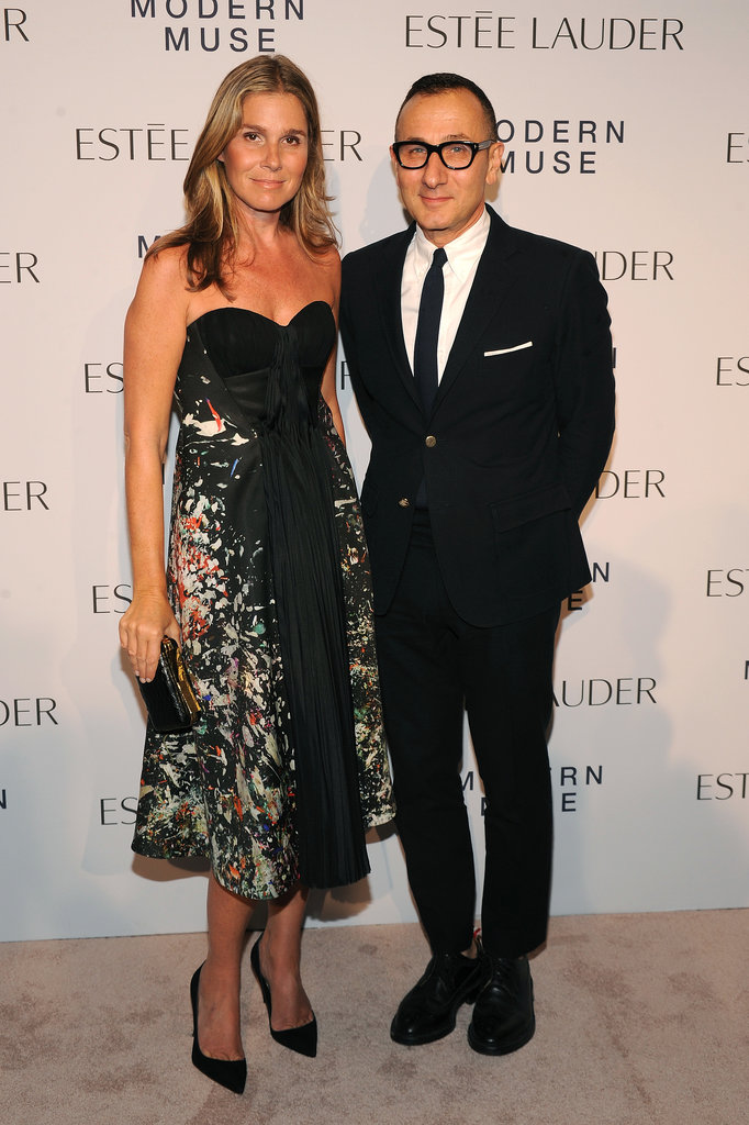 Aerin Lauder joined Gilles Mendel to wrap up Fashion Week at the Estée Lauder party.