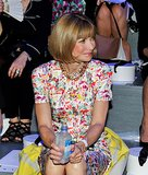 Anna Wintour waited in prints for the show to walk at Marc Jacobs.