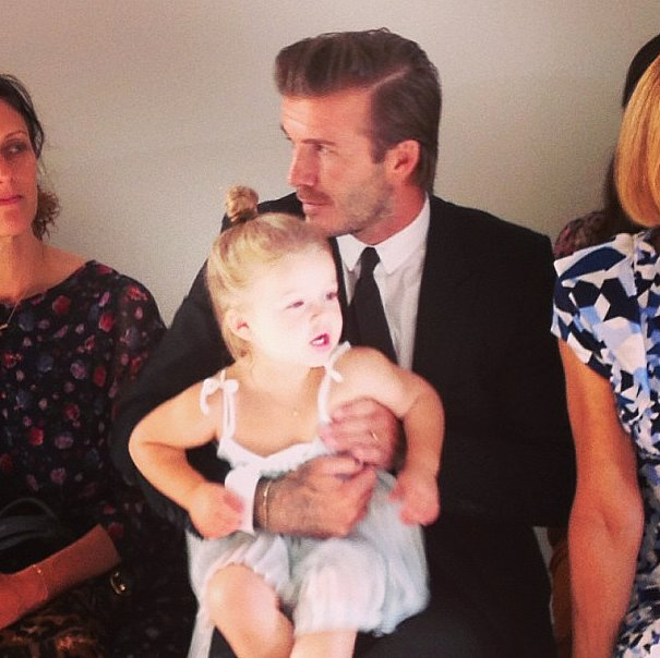 Harper Beckham wins for cutest New York Fashion Week attendee.