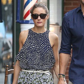 Olivia Palermo Wearing Polka Dots and Florals
