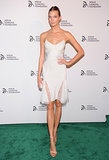 We had to applaud Karlie Kloss for making a white lace slip dress look entirely sophisticated at The Novak Djokovic Foundation dinner in NYC.