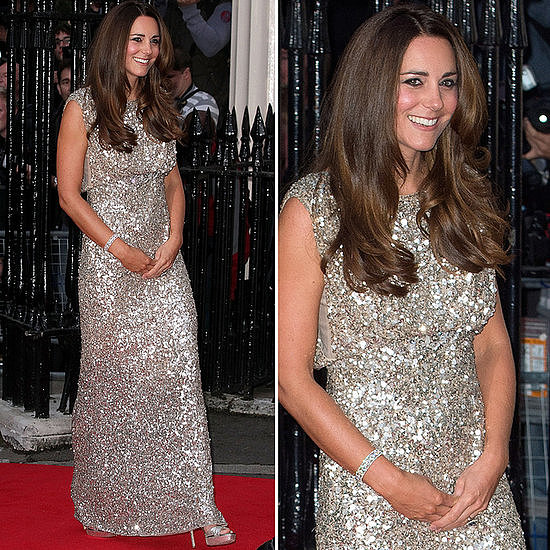 Meanwhile, Kate Middleton rocked yet another Jenny Packham gown.