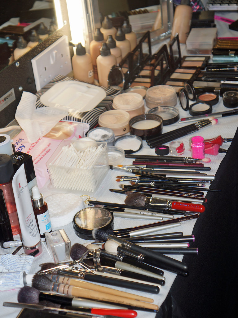 MAC makeup backstage at House of Holland Spring 2014.