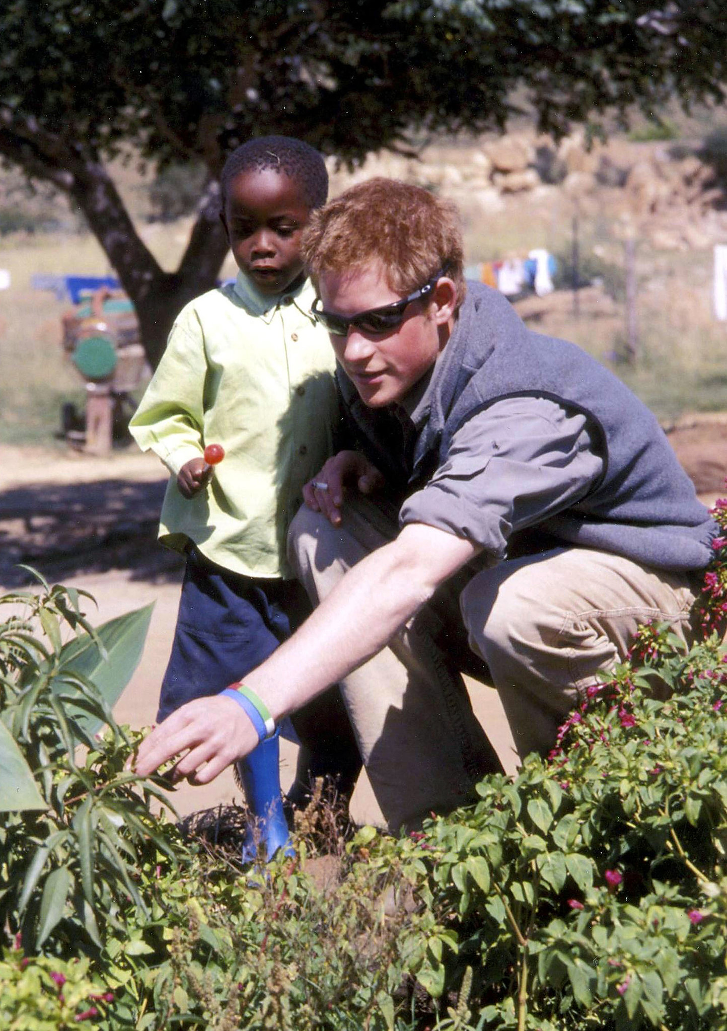 Prince Harry traveled to Lesotho for charity in 2005.