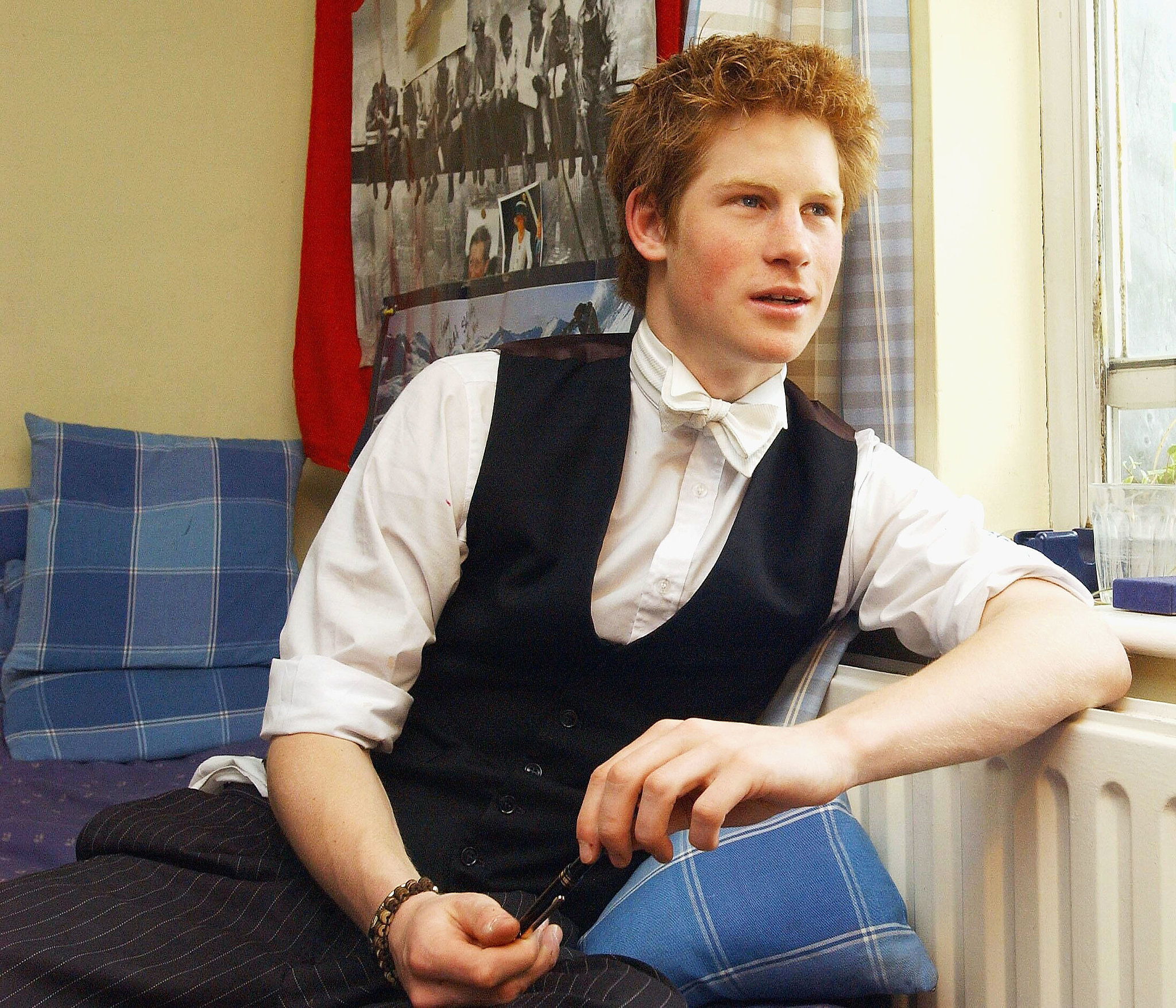 Prince Harry was snapped at Eton in 2003.