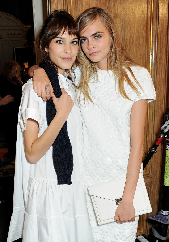 Alexa Chung and Cara Delevingne at Mulberry.