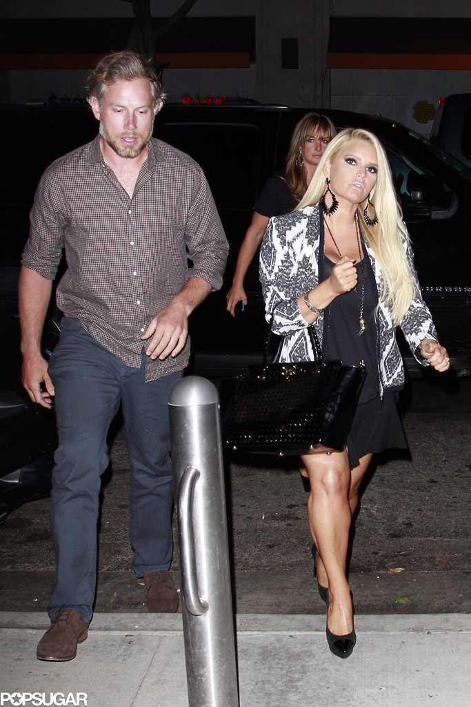 Jessica Simpson and Eric Johnson celebrated a friend's birthday in LA.