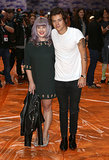 Harry Styles posed with Kelly Osbourne at the House of Holland show.