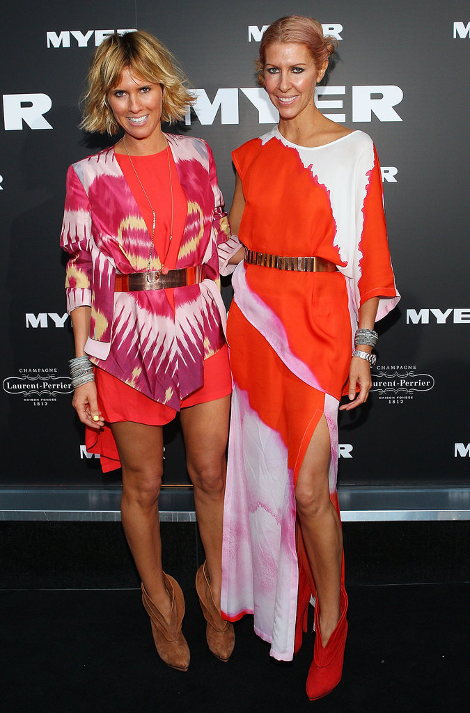 Sarah-Jane Clarke and Heidi Middleton at Myer's 100 Year Celebration