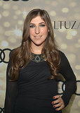 Mayim Bialik kept things simple with bold brows and soft curls at the Audi and Altuzarra Kick-Off Party.
