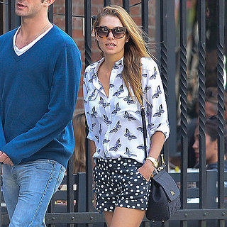 Jessica Hart Wearing Mixed Prints