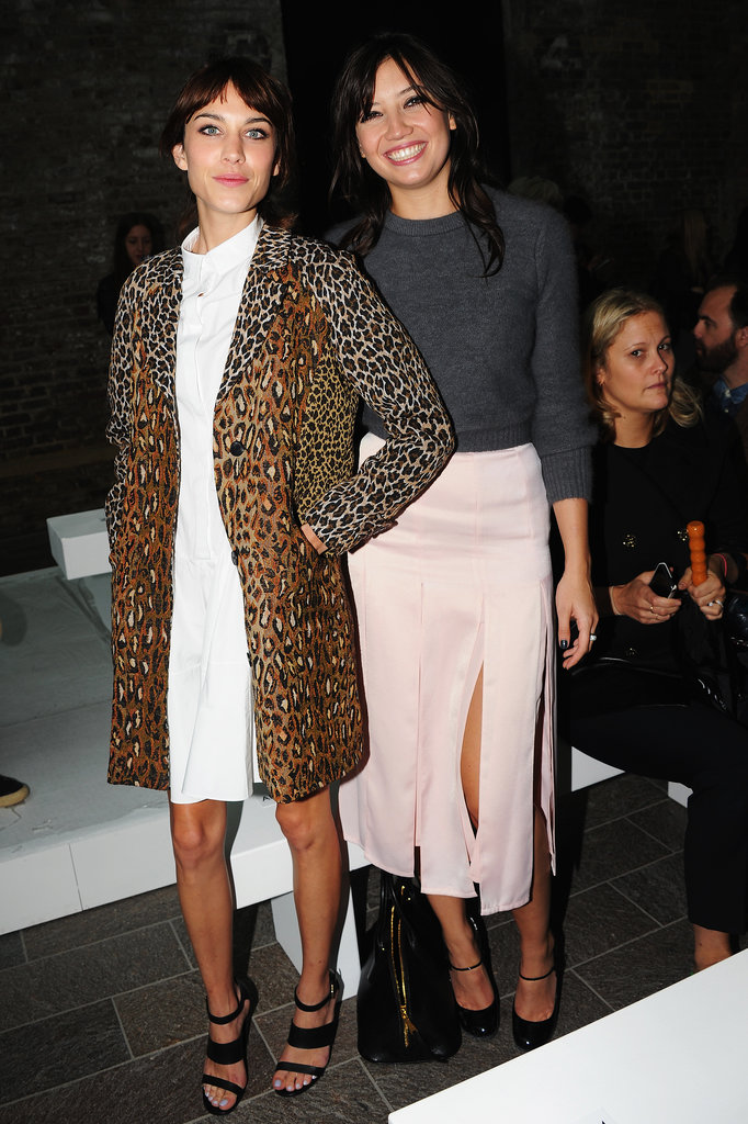 Alexa Chung let her leopard print do the talking when she posed with Daisy Lowe at Paul Smith.