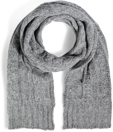 Marc by Marc Jacobs Wool Chunky Cable Scarf in Grey Melange