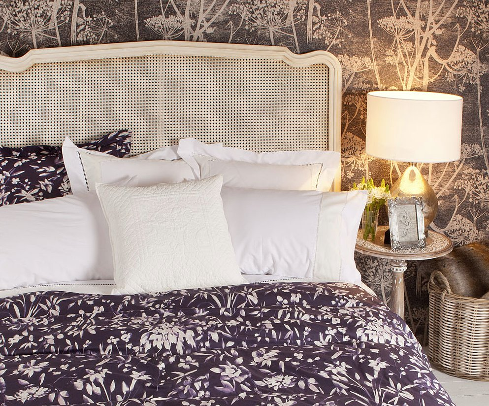 Incorporating deep jewel tones like purple, this satin bedding ($99-$149) is the best way to bring florals into the Fall.