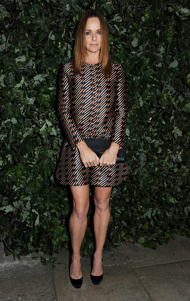 Stella McCartney attended the London event for The Global Fund and the Green Carpet Challenge.