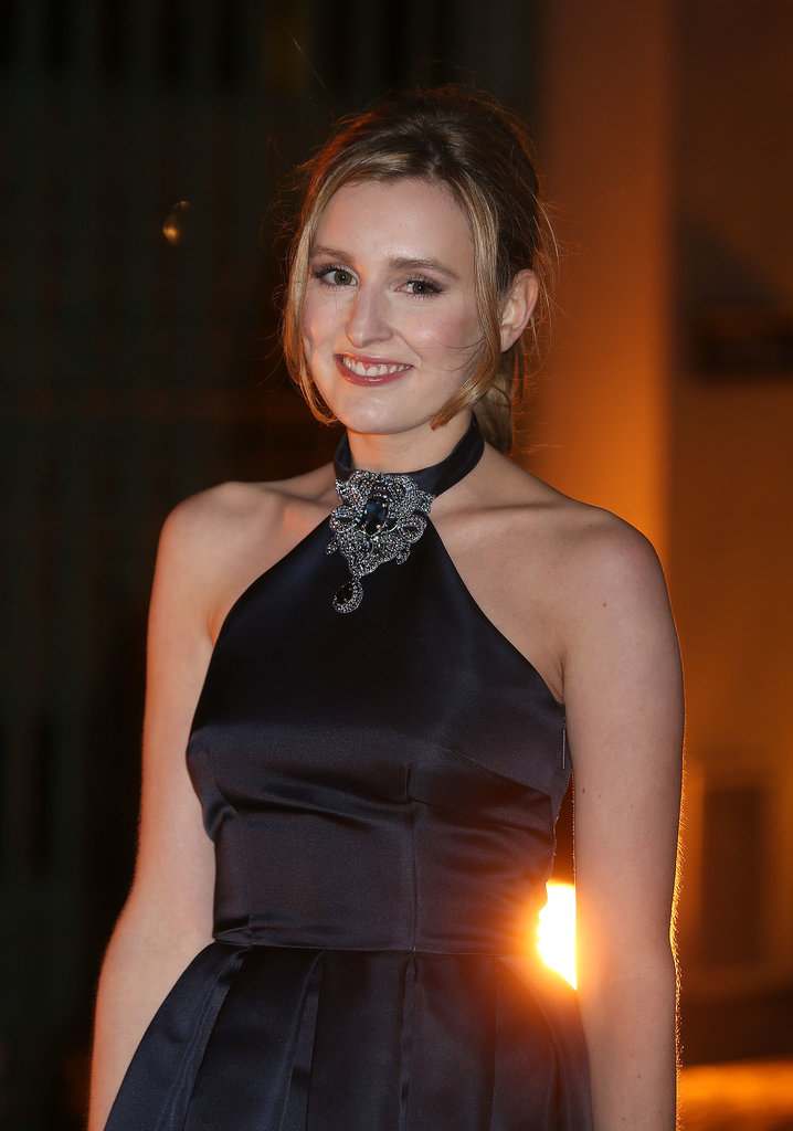 Laura Carmichael was all smiles at the London Fashion Week event.