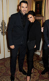Designers Victoria Beckham and Roland Mouret posed for a picture.