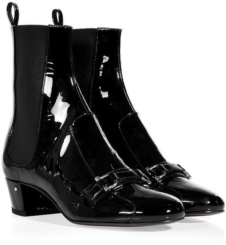 Laurence Dacade Black Patent Leather Ankle Boots