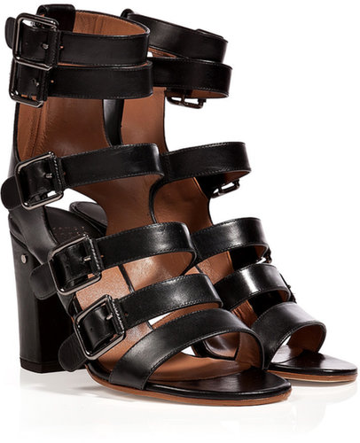 Laurence Dacade Buckled Strappy Leather Sandals in Black