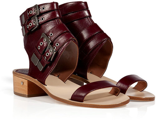 Laurence Dacade Leather Dolance Sandals in Bordeaux