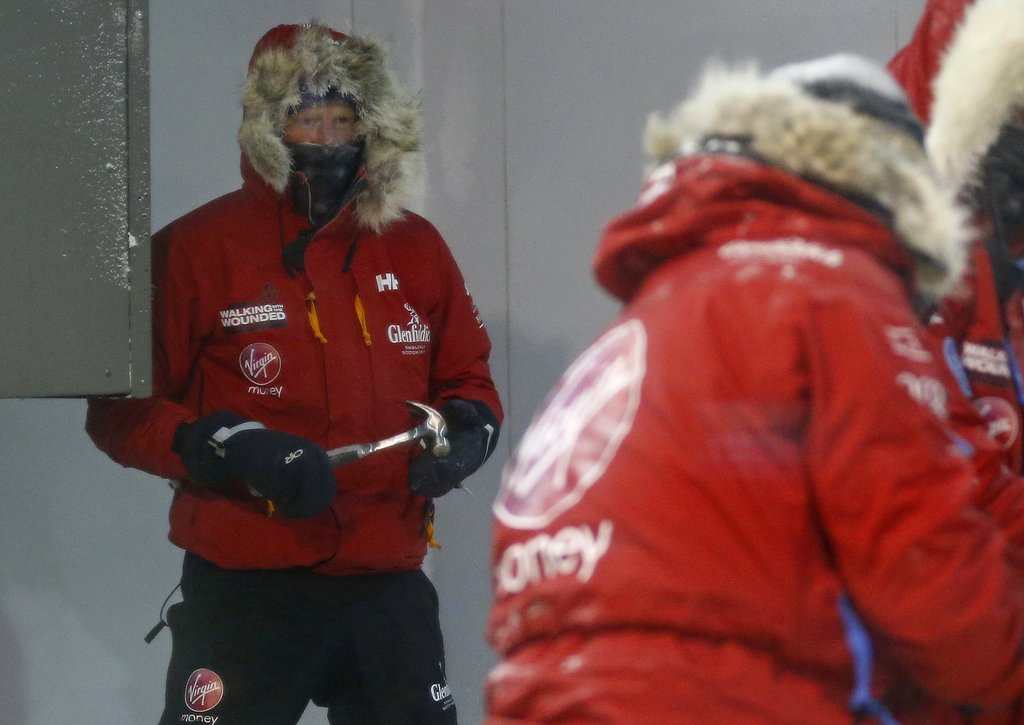 Prince Harry spent the night in a cold chamber.