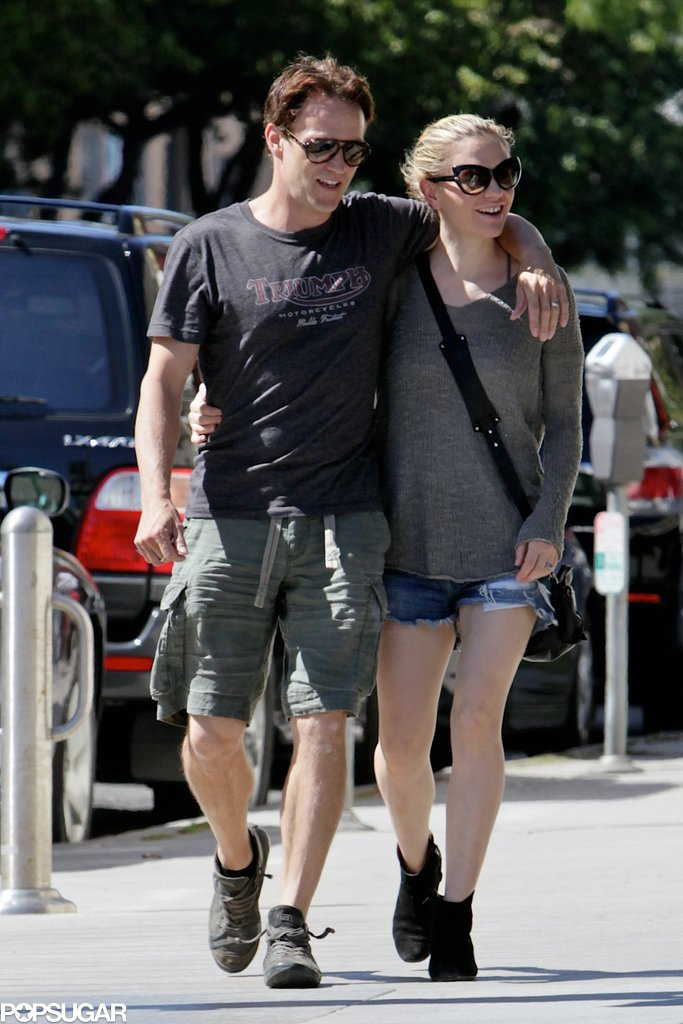 Anna Paquin and Stephen Moyer strolled around LA on Tuesday with a day of PDA and smiles.