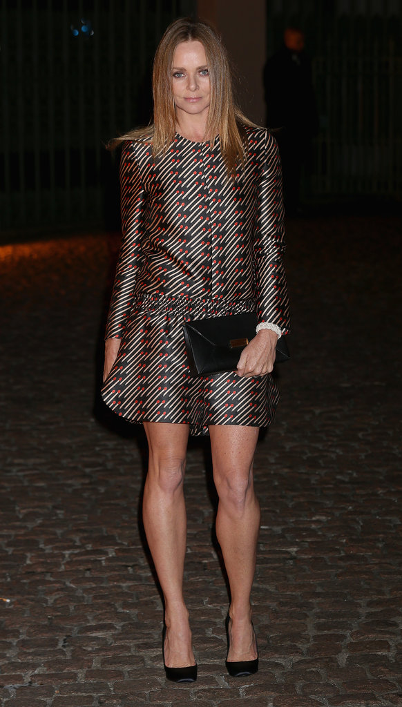 Stella McCartney had gams worth envying when she hit The Global Fund celebration in a printed design.