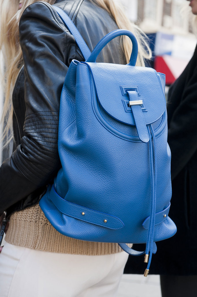 What's not to love about this gorgeous shade of blue or this handy backpack?