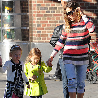 Sarah Jessica Parker Walking Her Twins to School in NYC