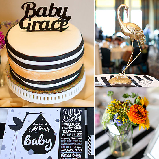 A Sophisticated yet Quirky Baby Shower in Black and Gold