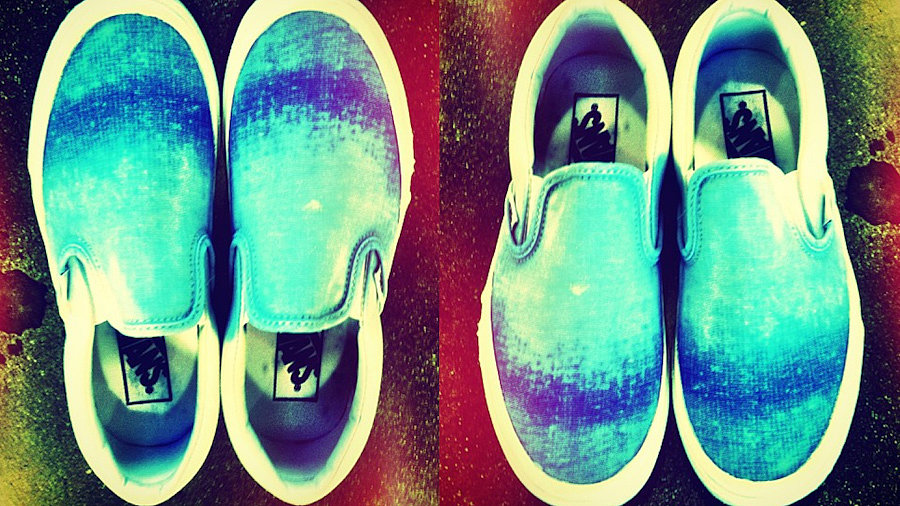 Easy DIY: Ombré Slip-On Sneakers