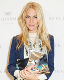 Poppy Delevingne at Anya Hindmarch Spring 2014.
