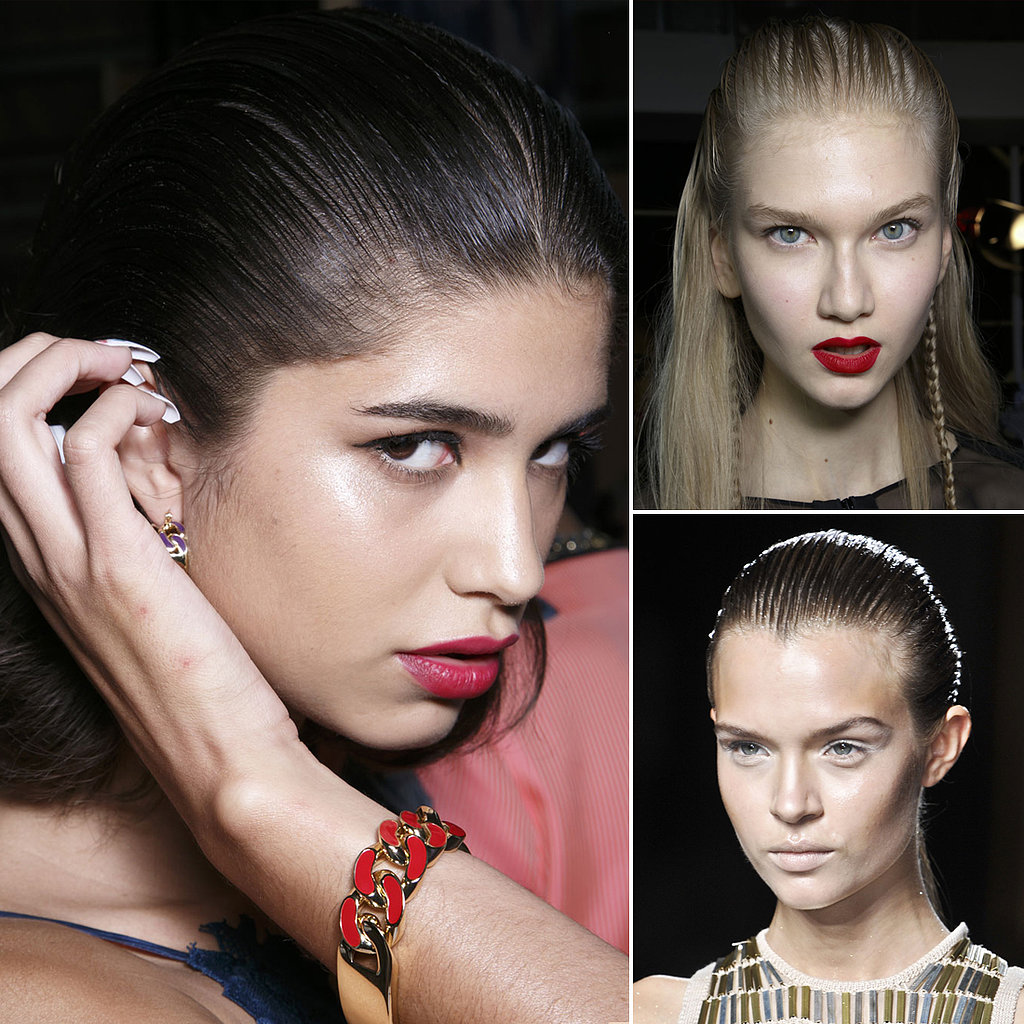 Slicked-Back Strands
