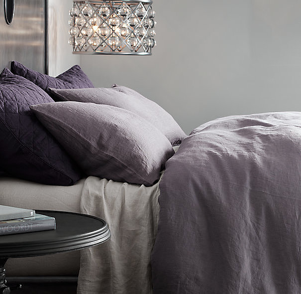 Dreams are made of this Linen Bedding Collection in orchid ($30-$299, originally $49-$299).