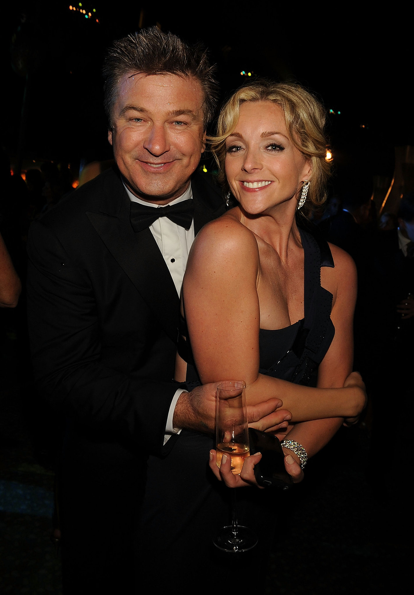 Alec Baldwin and Jane Krakowski posed for a photo during a 2008 afterparty.