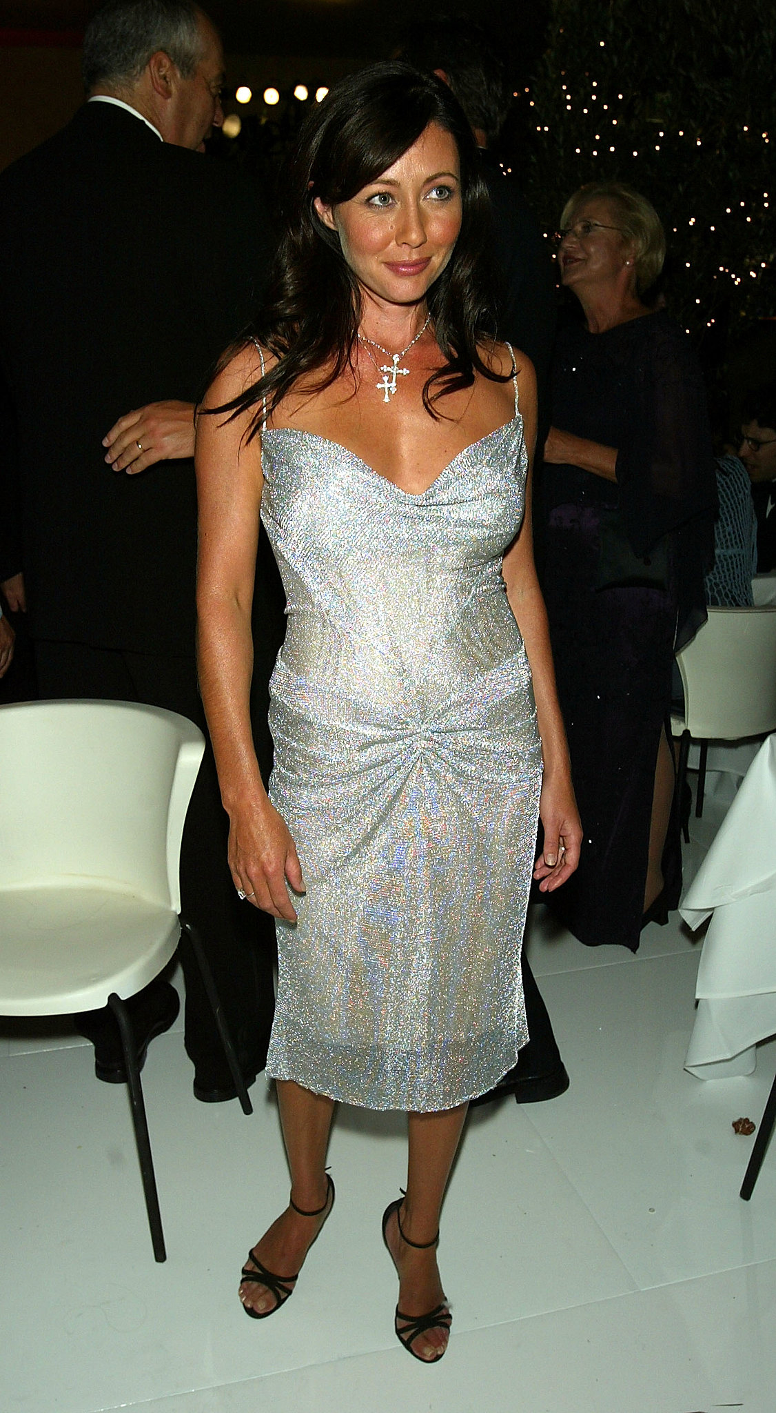 Shannen Doherty partied with pals at a postshow celebration in 2004.
