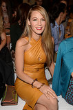 Blake Lively sat in the front row at the Gucci show during Milan Fashion Week.