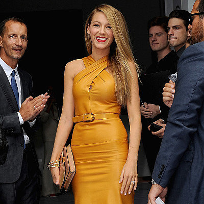Blake Lively at Gucci's Milan Fashion Week Show Pictures