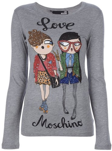 Love Moschino printed sweater