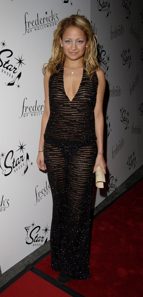 Whoa, girl! Nicole Richie bared (almost) all in a sheer tiger-print dress that didn't leave much to the imagination. It was actually pretty appropriate for the occasion — a Frederick's of Hollywood party in April 2002.