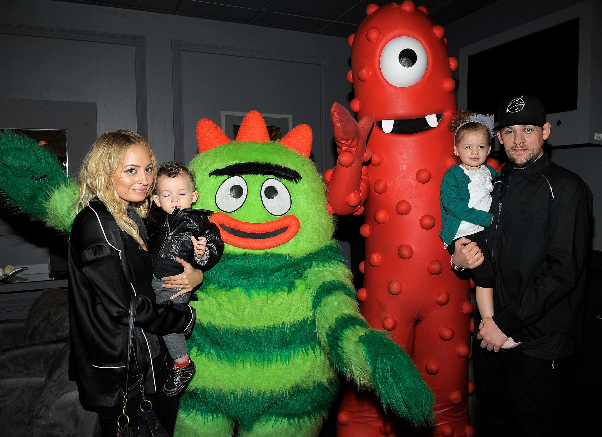 Nicole Richie and Joel Madden brought their kids, Harlow and Sparrow, to a Yo Gabba Gabba! concert in LA in November 2010.