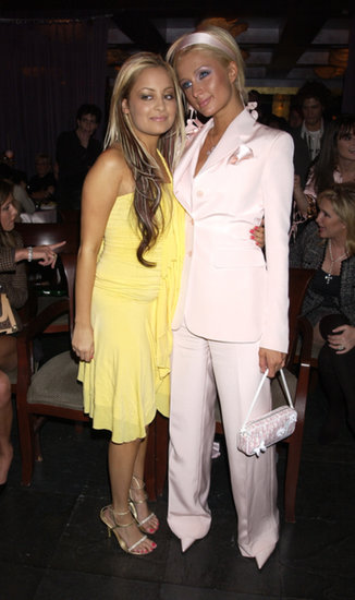Nicole Richie and Paris Hilton showed up in monochromatic looks for The Simple Life premiere party in December 2003.