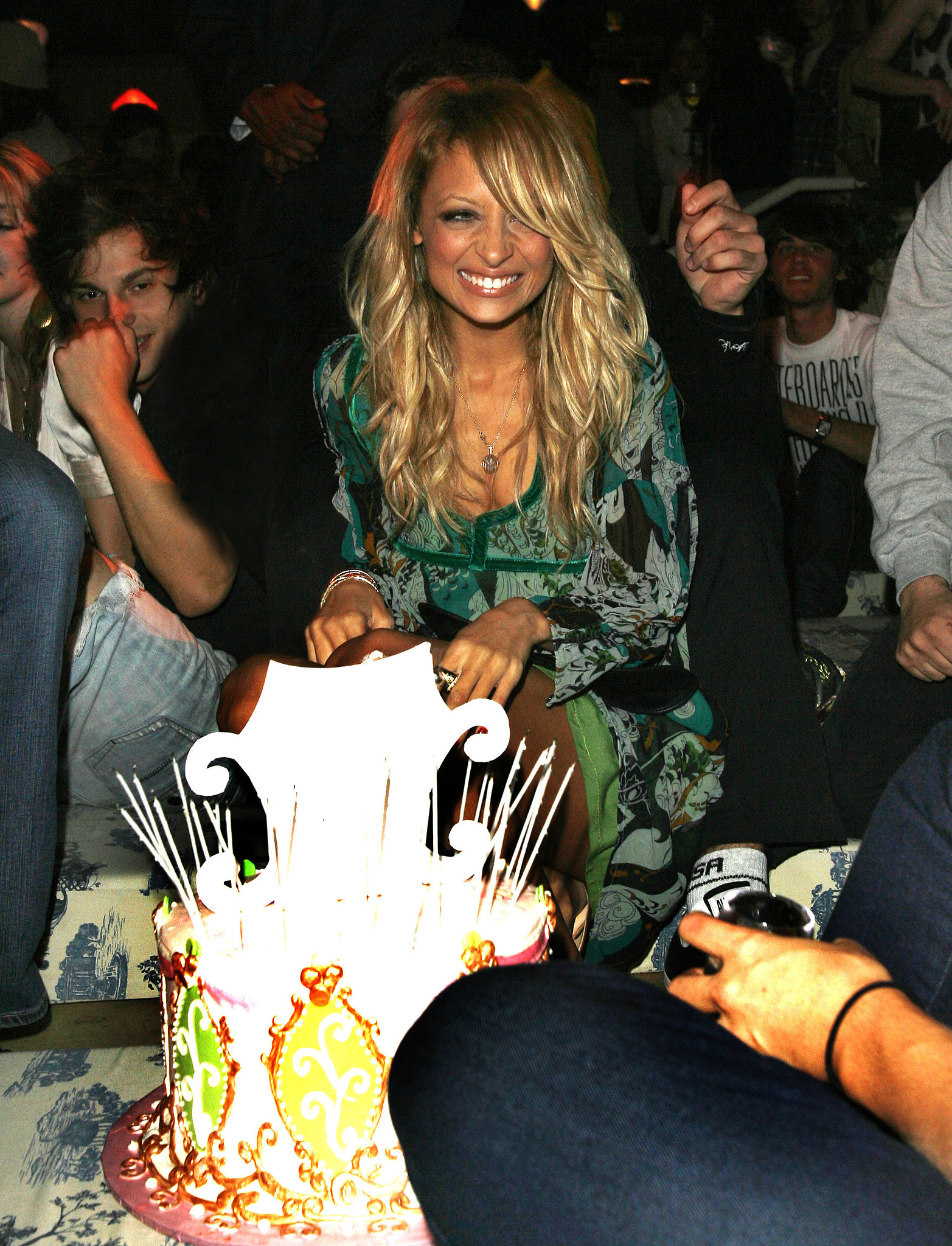 Nicole was surprised with a birthday cake of her own during a Teen Vogue Young Hollywood party in LA in September 2006.