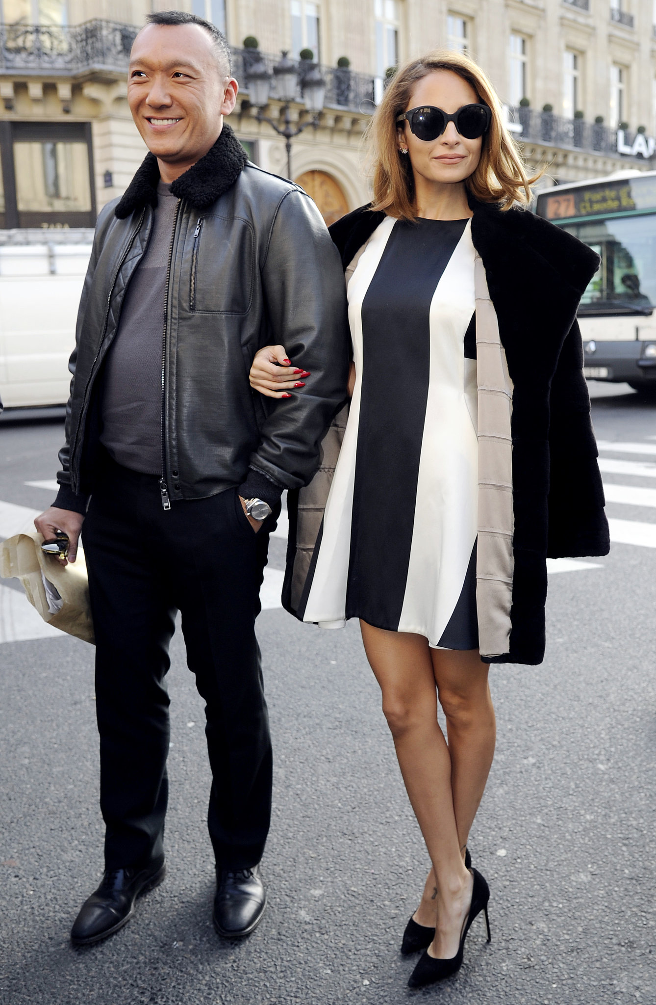 How chic did Nicole Richie look on the arm of Elle creative director Joe Zee? The duo arrived for the Stella McCartney show during Paris Fashion Week together in March 2013.