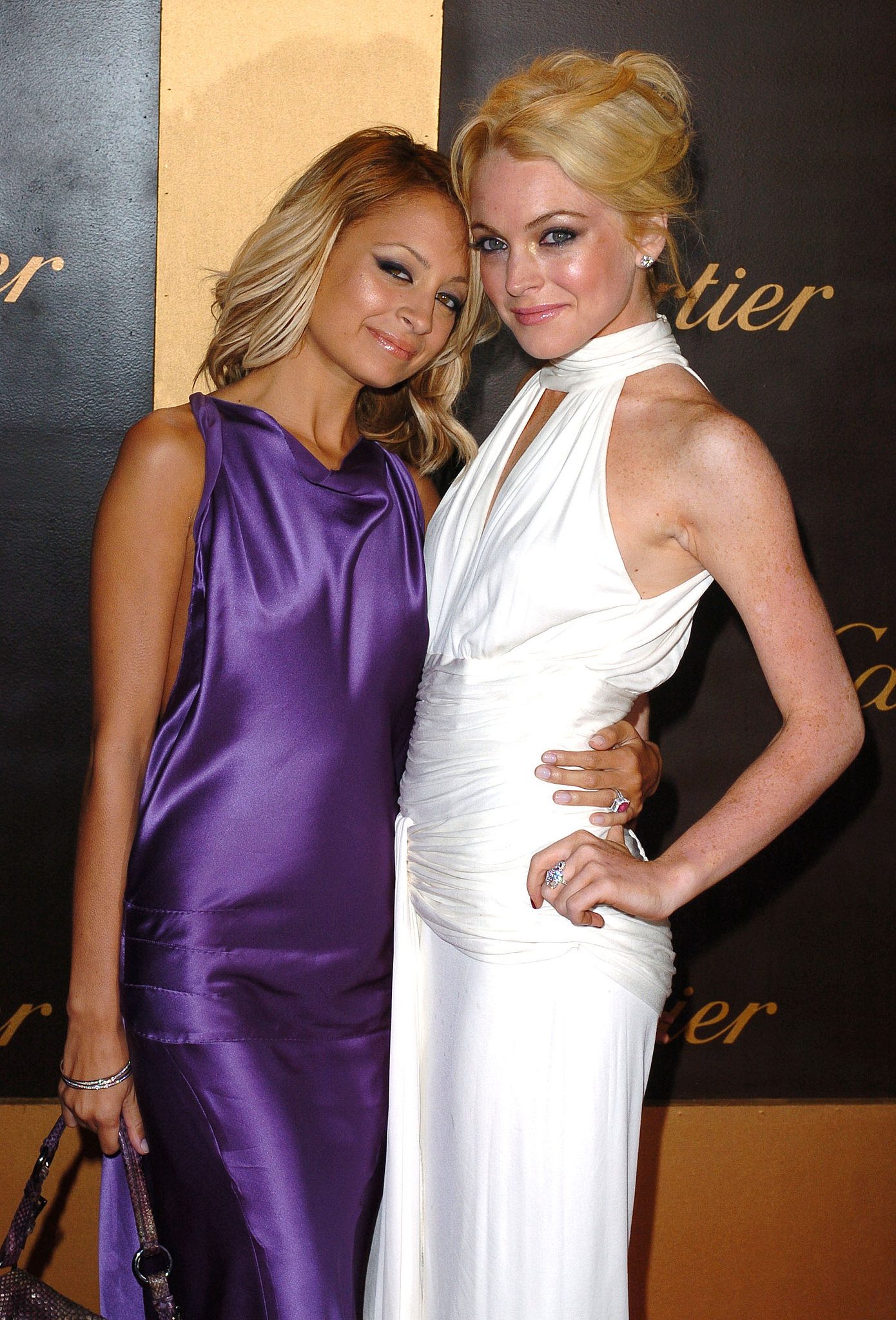 How's this for a blast from the past? Nicole Richie and a blond Lindsay Lohan stepped out together for a Cartier bash in May 2005.