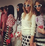 Burberry's ladies got shady backstage before the show. Source: Instagram user burberry