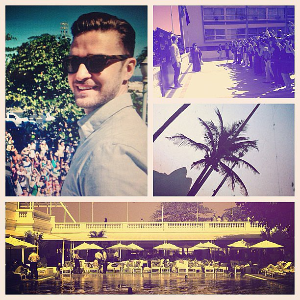 Justin Timberlake shared photos from his Runner, Runner press stop in Rio de Janiero. Source: Instagram user justintimberlake