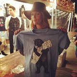 Drew Barrymore picked up a souvenir t-shirt at a recent Best Coast concert. Source: Instagram user drewbarrymore