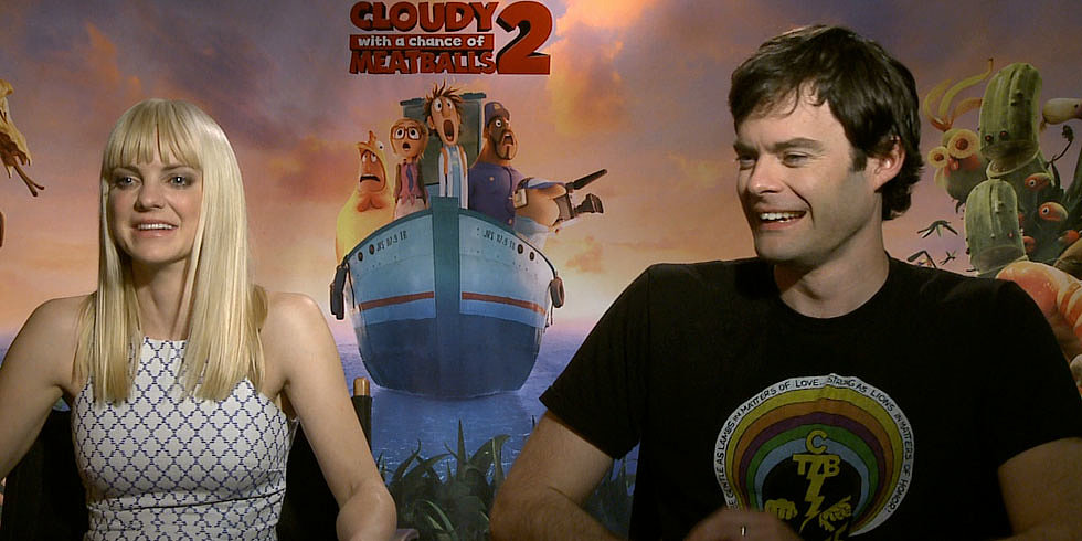 Anna Faris, Bill Hader, and the Cloudy 2 Cast on Foods That Seriously Gross Them Out
